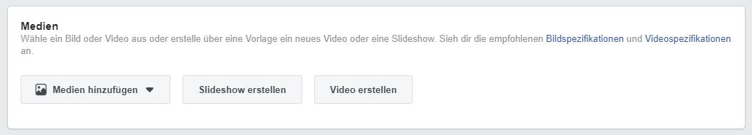 Medien Facebook Werbeanzeigen