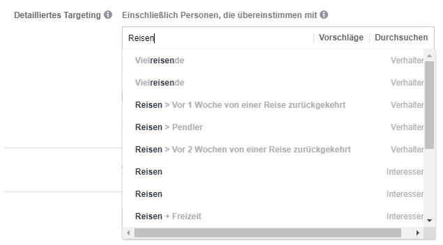 Facebook Interessen