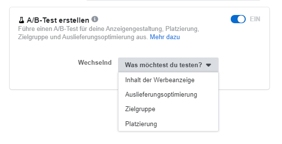 Splittests FB