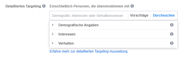 Targetierung FB